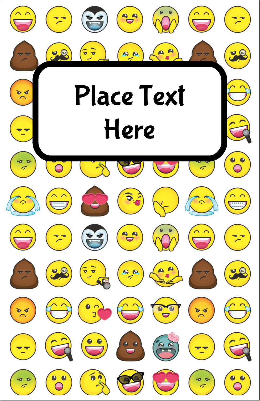 "8½"" Binder Insert x 5½"" Mini Binder - Emoji Faces"
