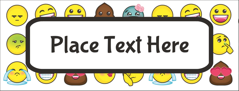 """1-7/16"""" x 3¾"""" Tent Card - Emoji Faces"""