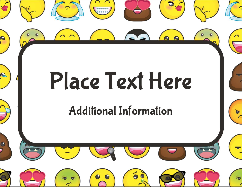 "5½"" x 4¼"" Postcard - Emoji Faces"