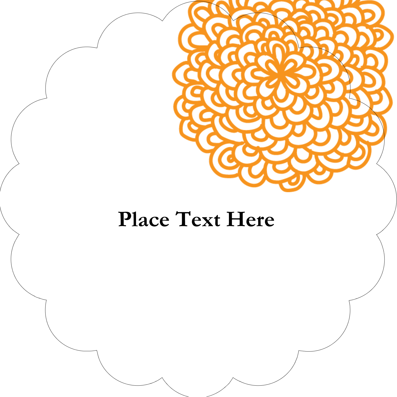 "2"" Scallop Oval Label - Bookplate Generic"