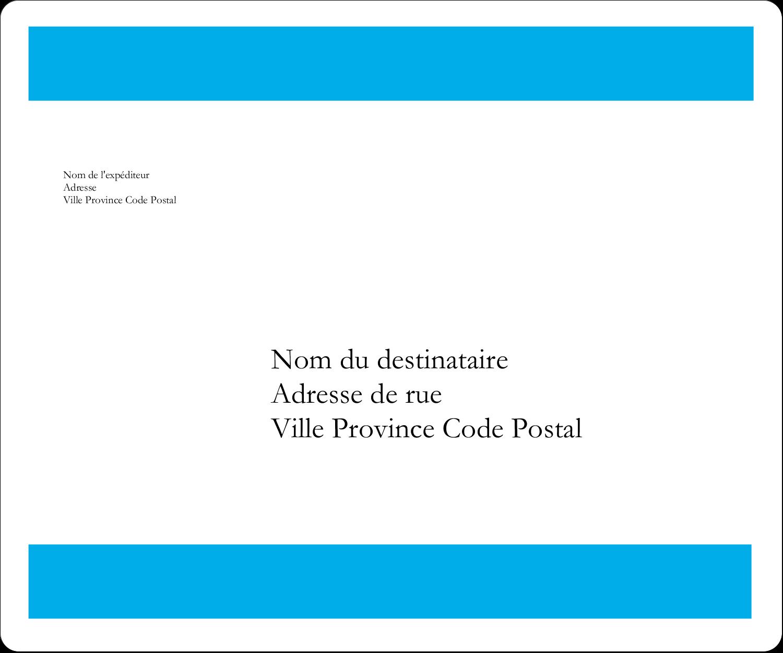 """½"""" x 1¾"""" Étiquettes D'Adresse - Barre bleue"""