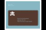 Bordure en brun et bleu Étiquettes D'Adresse - gabarit prédéfini. <br/>Utilisez notre logiciel Avery Design & Print Online pour personnaliser facilement la conception.