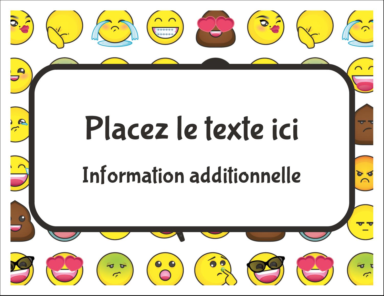 """8½"""" x 11"""" Cartes Et Articles D'Artisanat Imprimables - Visages d'émojis"""