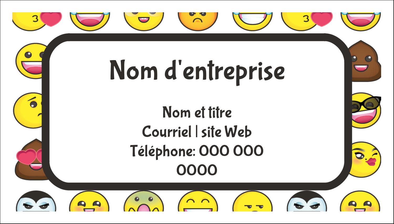 """3"""" x 5"""" Cartes Pour Le Bureau - Visages d'émojis"""