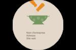 Ustensiles de cuisine Étiquettes rondes - gabarit prédéfini. <br/>Utilisez notre logiciel Avery Design & Print Online pour personnaliser facilement la conception.