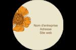 Illustrations florales Étiquettes rondes - gabarit prédéfini. <br/>Utilisez notre logiciel Avery Design & Print Online pour personnaliser facilement la conception.