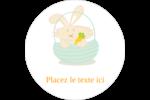 Panier de lapin Étiquettes rondes - gabarit prédéfini. <br/>Utilisez notre logiciel Avery Design & Print Online pour personnaliser facilement la conception.