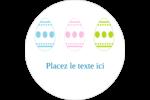 Trio d'œufs de Pâques Étiquettes rondes - gabarit prédéfini. <br/>Utilisez notre logiciel Avery Design & Print Online pour personnaliser facilement la conception.