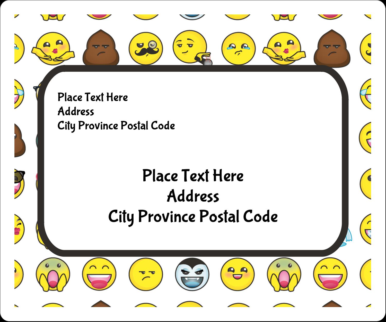 "3⅓"" x 4"" Shipping Label - Emoji Faces"