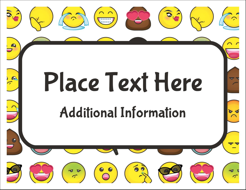 """5½"""" x 4¼"""" Note Card - Emoji Faces"""