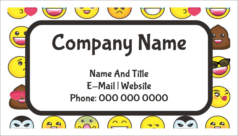 "2"" x 3½"" Business Card - Emoji Faces"