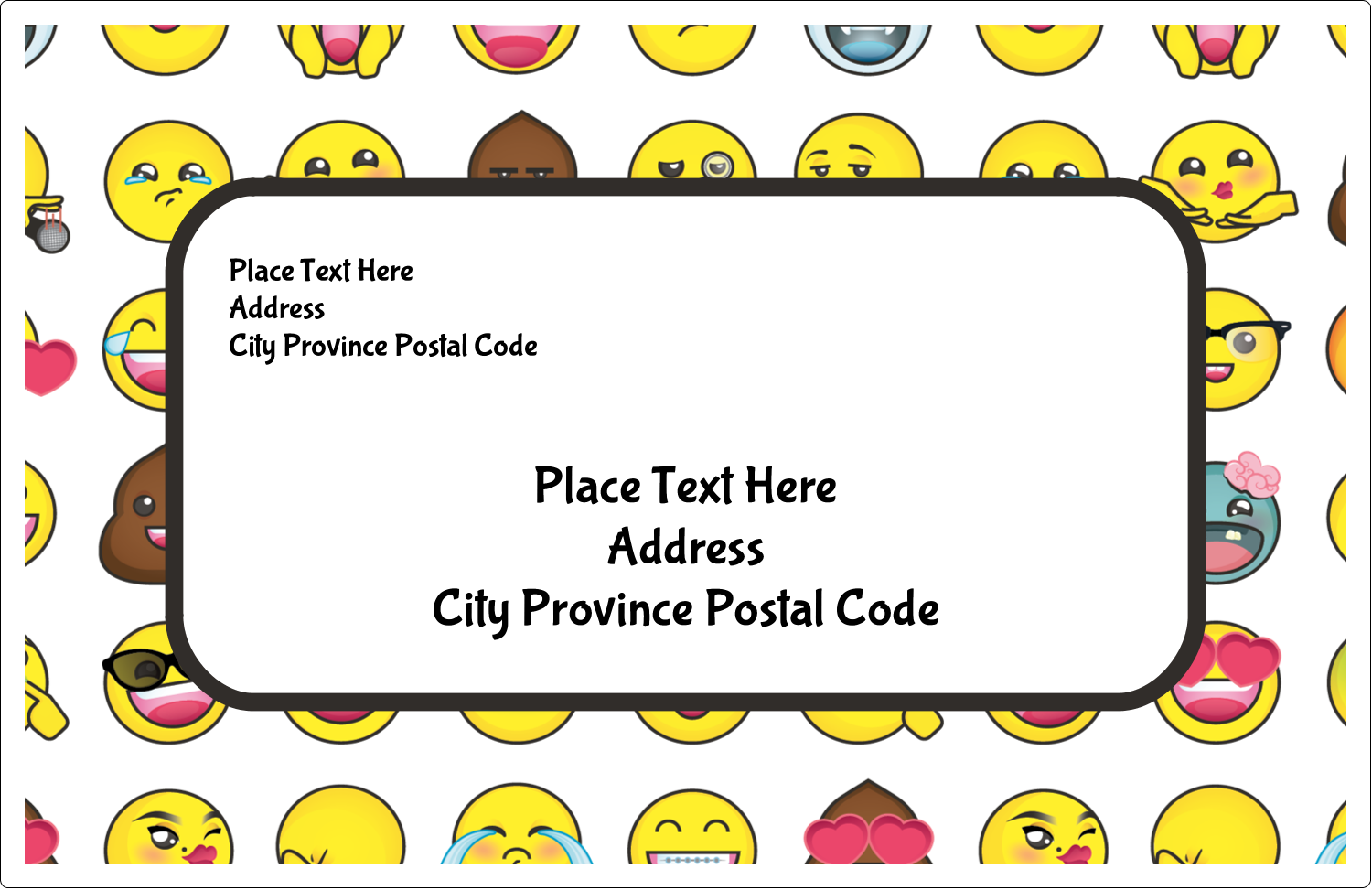 "5½"" x 8½"" Shipping Label - Emoji Faces"