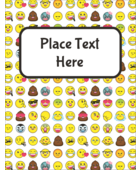 Add a fun youthful feel to your project with pre-designed Emoji Faces templates.