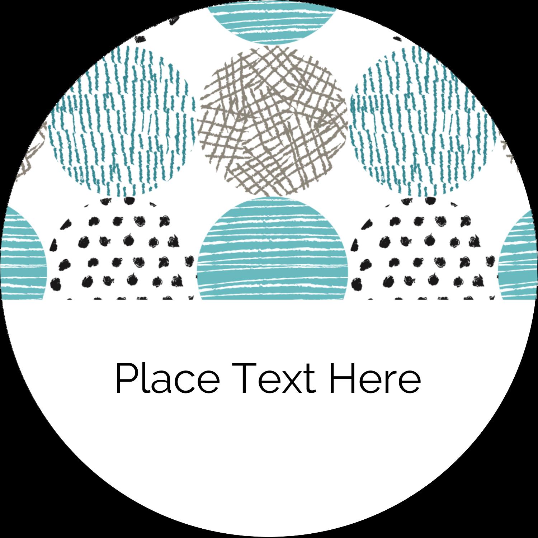 "2½"" Round Label - Urban Circles Blue"