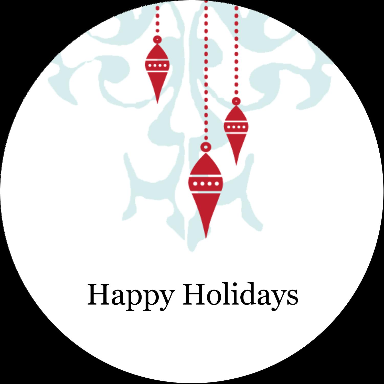 "2½"" Round Label - Elegant Christmas"