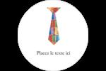 Cravate de la Fête des Pères Étiquettes de classement - gabarit prédéfini. <br/>Utilisez notre logiciel Avery Design & Print Online pour personnaliser facilement la conception.