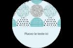 Cercles urbains bleus Étiquettes de classement - gabarit prédéfini. <br/>Utilisez notre logiciel Avery Design & Print Online pour personnaliser facilement la conception.