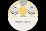 Cercles urbains jaunes Étiquettes de classement - gabarit prédéfini. <br/>Utilisez notre logiciel Avery Design & Print Online pour personnaliser facilement la conception.