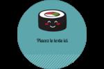 Émoticônes de sushis Étiquettes de classement - gabarit prédéfini. <br/>Utilisez notre logiciel Avery Design & Print Online pour personnaliser facilement la conception.