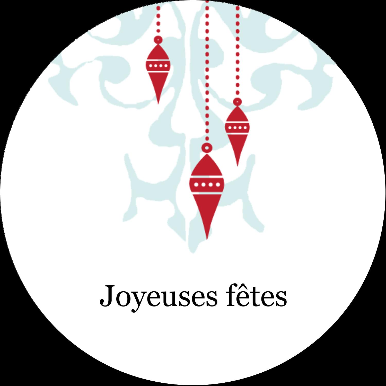 """3-7/16"""" x 15/16"""" Étiquettes de classement - Noël élégant"""