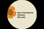 Illustrations florales Étiquettes arrondies - gabarit prédéfini. <br/>Utilisez notre logiciel Avery Design & Print Online pour personnaliser facilement la conception.
