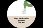 Ustensiles de cuisine Étiquettes arrondies - gabarit prédéfini. <br/>Utilisez notre logiciel Avery Design & Print Online pour personnaliser facilement la conception.