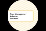Lignes jaunes Étiquettes arrondies - gabarit prédéfini. <br/>Utilisez notre logiciel Avery Design & Print Online pour personnaliser facilement la conception.