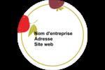 Fruits rétro Étiquettes arrondies - gabarit prédéfini. <br/>Utilisez notre logiciel Avery Design & Print Online pour personnaliser facilement la conception.