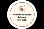 Café classique Étiquettes arrondies - gabarit prédéfini. <br/>Utilisez notre logiciel Avery Design & Print Online pour personnaliser facilement la conception.