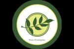 Rameau d'olivier simple Étiquettes arrondies - gabarit prédéfini. <br/>Utilisez notre logiciel Avery Design & Print Online pour personnaliser facilement la conception.