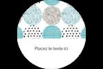 Cercles urbains bleus Étiquettes arrondies - gabarit prédéfini. <br/>Utilisez notre logiciel Avery Design & Print Online pour personnaliser facilement la conception.