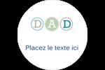 Fête des Pères Étiquettes rondes - gabarit prédéfini. <br/>Utilisez notre logiciel Avery Design & Print Online pour personnaliser facilement la conception.