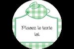 Lapin d'Écosse Étiquettes rondes - gabarit prédéfini. <br/>Utilisez notre logiciel Avery Design & Print Online pour personnaliser facilement la conception.