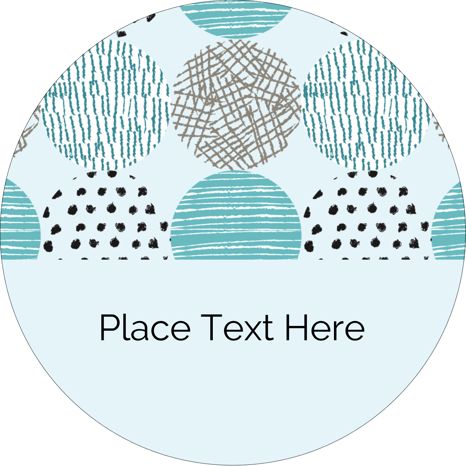 "2½"" Round Label - Urban Circles Blue"