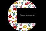 Fleurs printanières Étiquettes arrondies - gabarit prédéfini. <br/>Utilisez notre logiciel Avery Design & Print Online pour personnaliser facilement la conception.