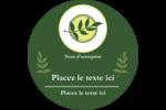 Rameau d'olivier  Étiquettes arrondies - gabarit prédéfini. <br/>Utilisez notre logiciel Avery Design & Print Online pour personnaliser facilement la conception.