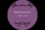 Filigrane violet Étiquettes arrondies - gabarit prédéfini. <br/>Utilisez notre logiciel Avery Design & Print Online pour personnaliser facilement la conception.