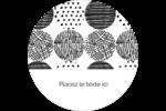 Cercles urbains jaunes Étiquettes arrondies - gabarit prédéfini. <br/>Utilisez notre logiciel Avery Design & Print Online pour personnaliser facilement la conception.