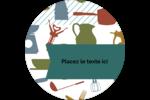 Articles de cuisine Étiquettes arrondies - gabarit prédéfini. <br/>Utilisez notre logiciel Avery Design & Print Online pour personnaliser facilement la conception.