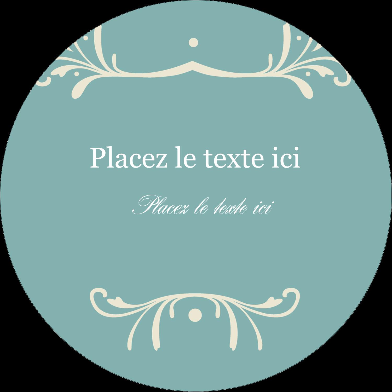 """3-7/16"""" x 15/16"""" Étiquettes de classement - Filigrane vert"""