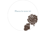 Silhouette de fleur Étiquettes de classement - gabarit prédéfini. <br/>Utilisez notre logiciel Avery Design & Print Online pour personnaliser facilement la conception.