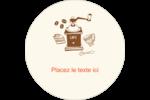 Café classique Étiquettes de classement - gabarit prédéfini. <br/>Utilisez notre logiciel Avery Design & Print Online pour personnaliser facilement la conception.
