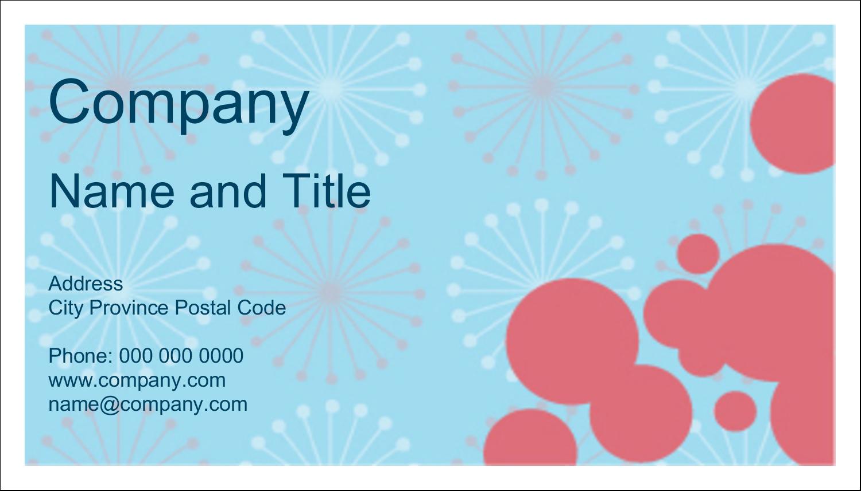 "2"" x 3½"" Business Card - Simple Celebration"