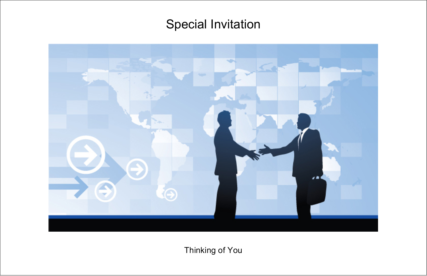 "5½"" x 8½"" Greeting Card - Business Handshake"