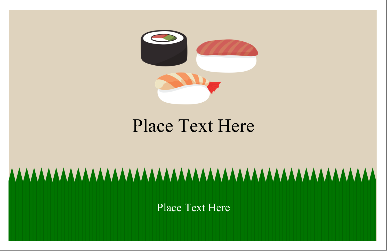 "5½"" x 8½"" Greeting Card - Sushi"