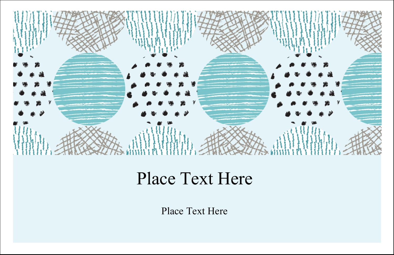 "5½"" x 8½"" Greeting Card - Urban Circles Blue"