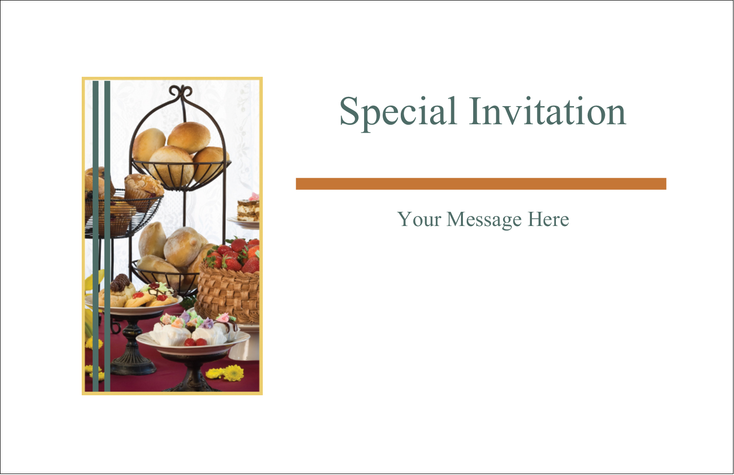 "5½"" x 8½"" Greeting Card - Desserts and Breads"