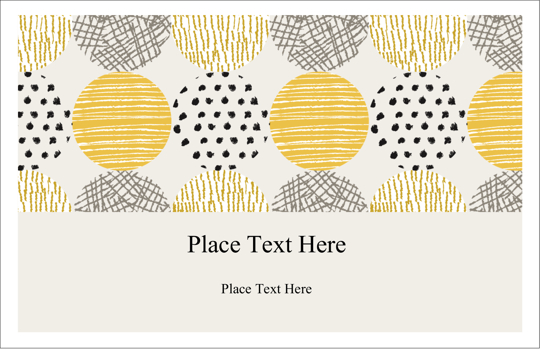 "5½"" x 8½"" Greeting Card - Urban Circles Yellow"