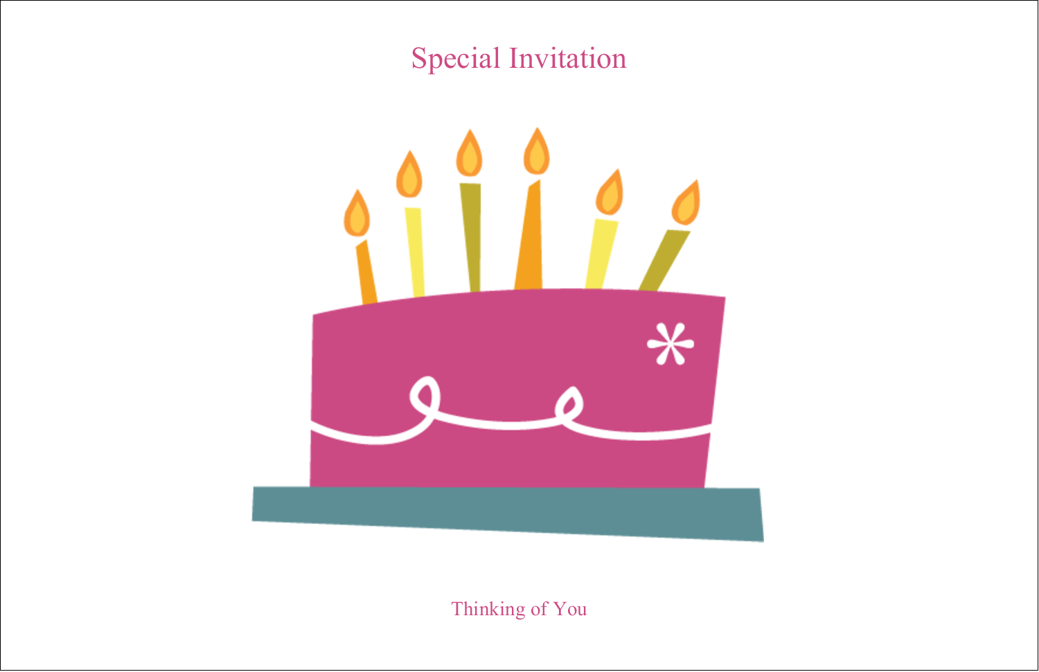 "5½"" x 8½"" Greeting Card - Birthday Party"