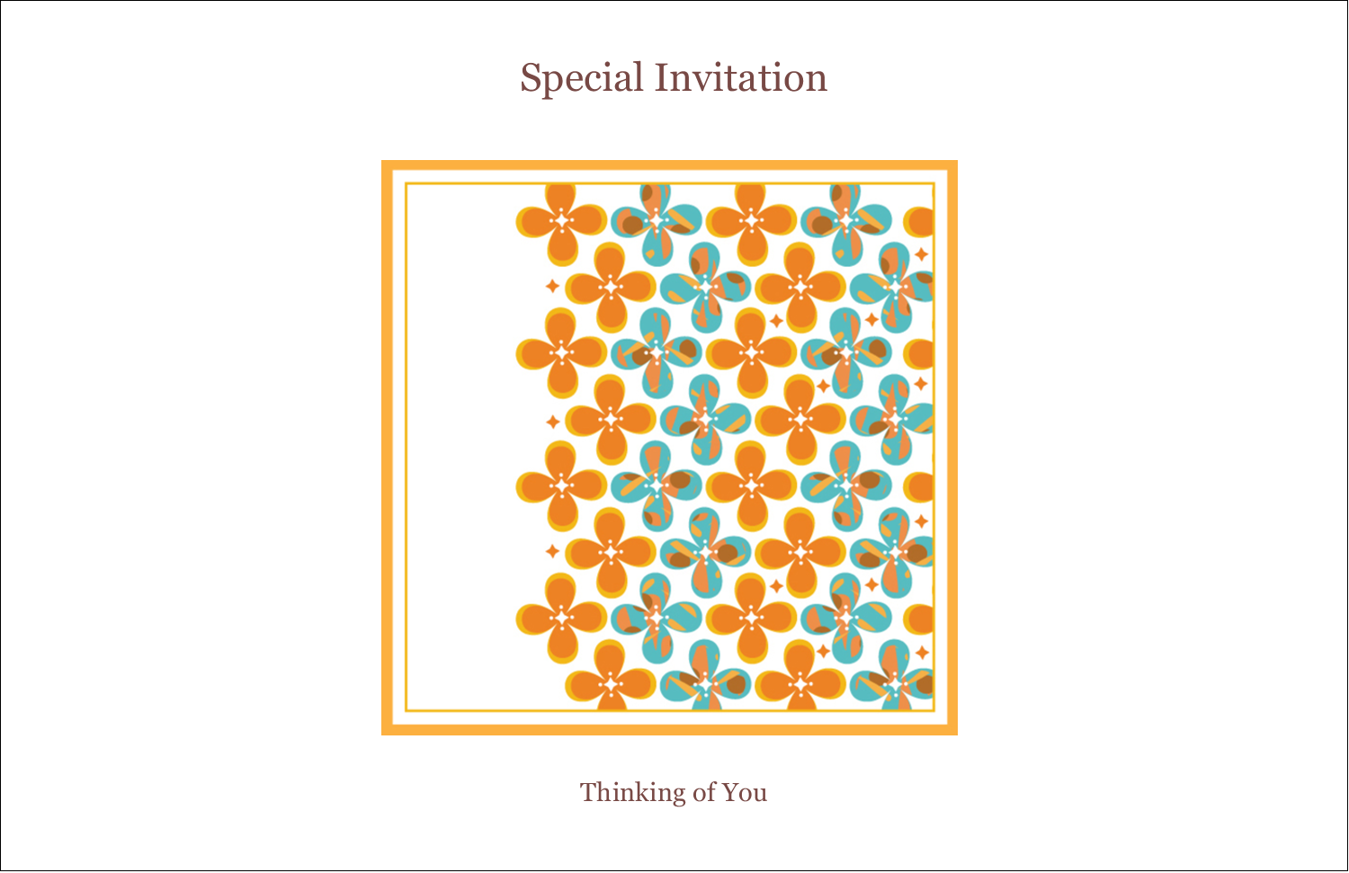 "5½"" x 8½"" Greeting Card - Floral Pattern"